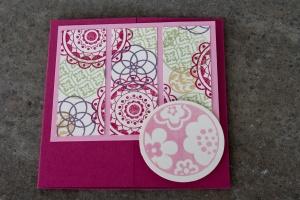 GateFoldKarte Circle Circus Pastellfarben StampinUp