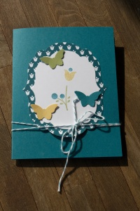 Stampin Up Tunnelkarte Bright Blossoms